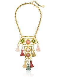 Spring Blush Silk Tassel Pendant Drop Necklace