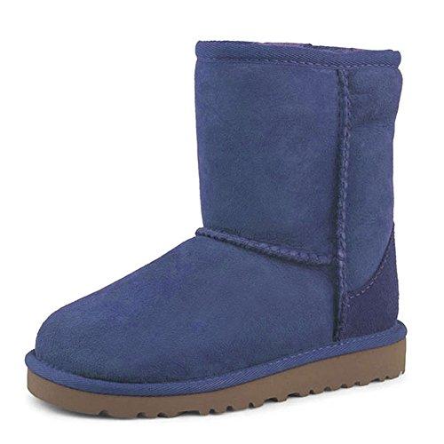 VOCOSI Wommen's Snow Bootie, 2018 Winter Non-Slip Soles Ankle High Fur Inside Velvet Shoes Bootie Blue