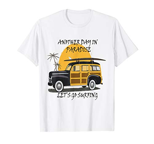 - Aloha Hawaiian T Shirt Hawaii-Cool Woody Surfer Hot Rod