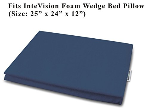 Cotton Wedges (InteVision 400 Thread Count, 100% Egyptian Cotton Bed Wedge Pillowcase; Replacement Cover Designed to Fit the 12