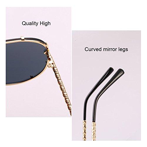 en Gold Carré Sunglasses Soleil et Unisexe pour Lunettes Grand Armature Lunettes Sens de Métal des Mens Ladies Cadre Hommes Femmes Confort Zhuhaitf qE0px1zw