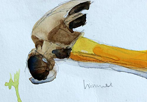 Yellow Hammer Original Watercolor Painting ACEO Angela Moulton