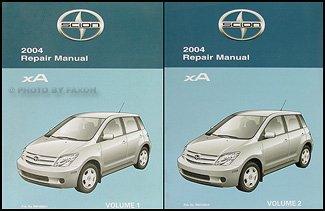 2004 Scion xA Repair Shop Manual Original 2 Vol. Set