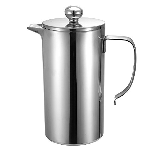 Cheap Foho French Coffee Press Maker Double Wall Stainless Steel French Coffee Press  Quality Anti R...