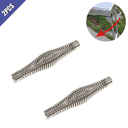 Comidox 11cm/4.32inch BBQ Heavy Duty Spring Handle,Nickel Plated (Chrome Look) Barbecue Smoker,Grill, Furnace,Stove,Pit Accessories 2Pcs
