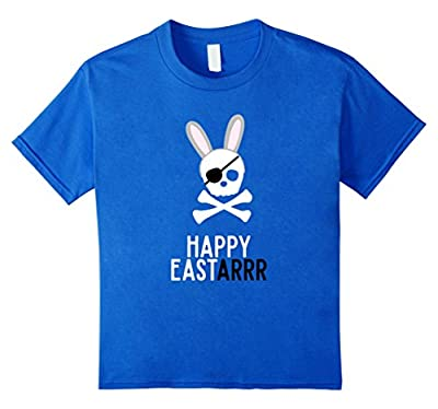 Funny Easter Shirt Pirate Bunny Ears boys toddler boy adults
