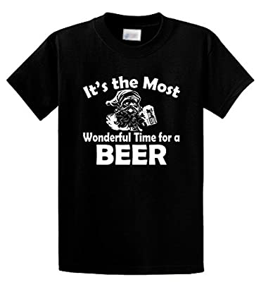 Comical Shirt Men's It's Most Wonderful Time For Beer Funny Christmas