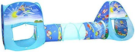 Yuhebaby Play Tent for Kids,Rocket Ship Pop Up Tent With Tunnel and Ball Pit for Toddlers for Indoor /& Outdoor Use Toddlers /& Pets Babies Kids Tents and Playhouses for Boys Girls 3-Piece Set with Carrying Case