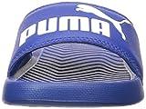 PUMA Unisex-Kid's Popcat Slide Sandal, White Black, 6 M US Big Kid