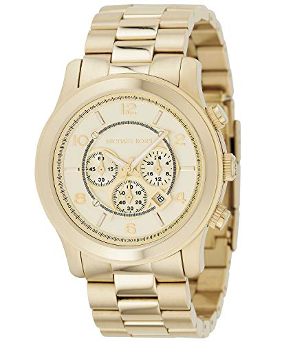 Michael Kors Men's Oversized Goldtone Stainless Steel Oversized Runway Chronograph Watch (Oversized Runway Watch)