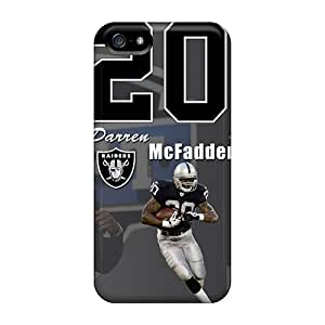 Excellent Cell-phone Hard Cover For Iphone 5/5s (xvt17981ZQuA) Unique Design Realistic Oakland Raiders Image