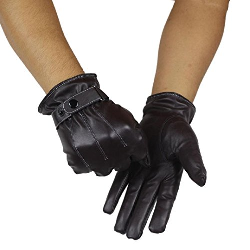 Cheap Mens Leather Gloves - 8