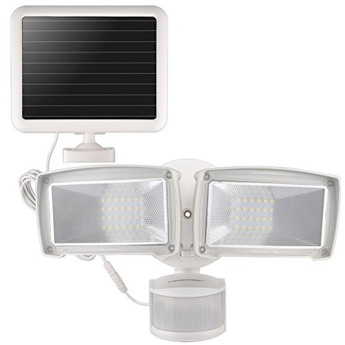 LEPOWER Solar LED Security Light, 950LM Outdoor Motion Sensor Light, 5500K, IP65 Waterproof, Adjustable Head Flood Light with 2 Modes Automatic and Permanent on, for Entryways, Patio, Yard, Garage Review