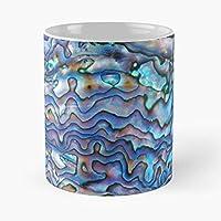 Nuevo arco iris de ópalo maorí Opalescente iridiscente madre Zelanda perla abulón mejor 11oz cerámica taza de café personalizar