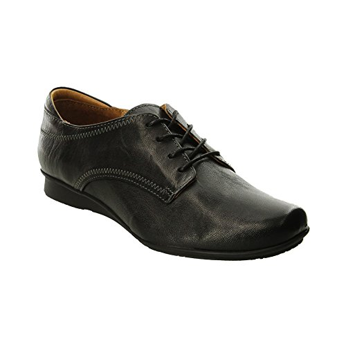 Taos Womens Ideal Oxf Shoes Black Leather Black
