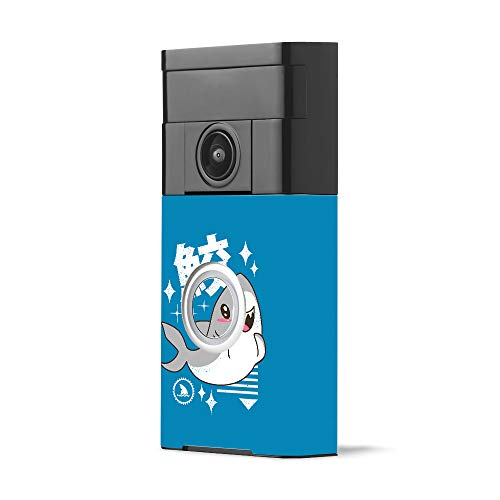 MightySkins Skin Compatible with Ring Video Doorbell - Shark Kawaii | Protective, Durable, and Unique Vinyl Decal wrap Cover | Easy to Apply, Remove, and Change Styles | Made in The USA