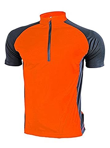 Short Sleeve Cycling Jersey / Breathable Cycling Jersey Orange M - Short Sleeve Zipper