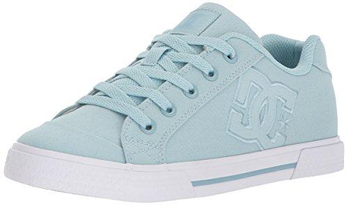 DC Women's Chelsea TX Skate Shoe, Light Blue, 7 B US
