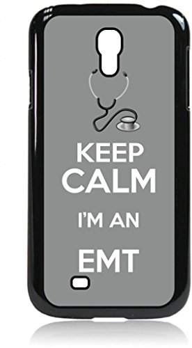 Keep Calm I'm An EMT-Grey- Hard Black Plastic Snap - On Case with Soft Black Rubber Flip Cover--Samsung® GALAXY S3 I9300 - Samsung Galaxy S III - Great Quality!