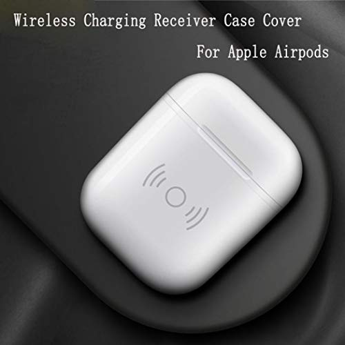 Tpingfe Wireless Charger Receiver Charging Headset Smart Cover Case For Apple Airpods ()