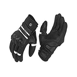 Rynox – AIR-GT Motorcycle Riding Gloves (Black & White, Size: XX-Large)
