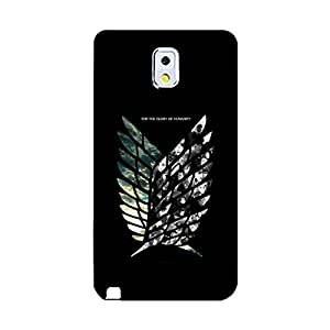 Animation Shingeki No Kyojin Phone Case Best Sell Scouting Legion Image Shell Case for Samsung Galaxy Note 3 N9005