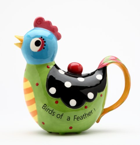 Appletree 8-1/8-Inch Ceramic Rooster Teapot