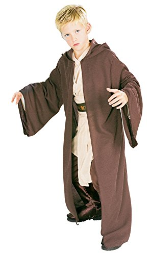 Hooded Robe Child Costumes (Rubies Star Wars Deluxe Hooded Jedi Robe, Medium)