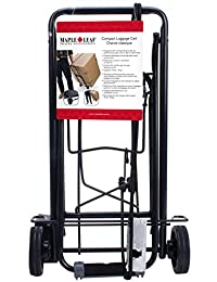 Maple Leaf ML6226BK Compact Luggage Cart, International Carry-on, Black