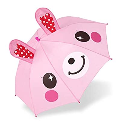 BAIHONG Paraguas Animal de 3D para niños de 2 a 7 años ...