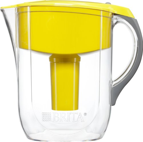 BRITA Grand Water Filter Pitcher, Yellow, 10 Cup