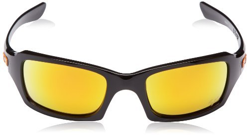 Polished Squared de Lunette soleil Oakley Black Fives Iridium Fire tXq5xtwRvz