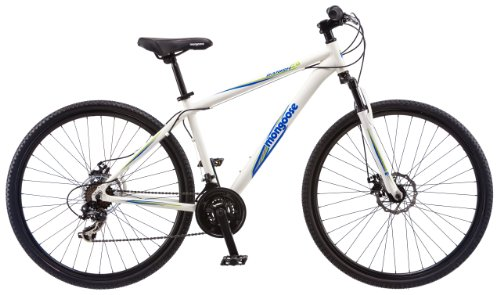 Mongoose Men's Banish 2.0 Hybrid Bike, White, 29""