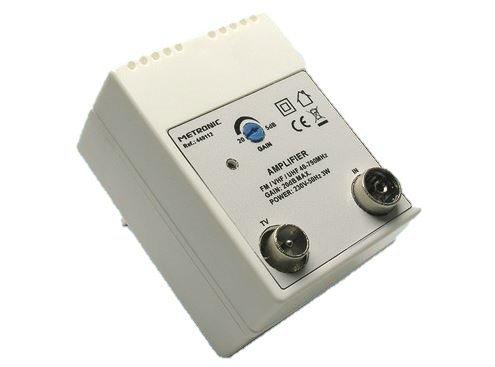 Amplificadores para antenas 1 salida TV a hasta 20dB.