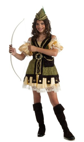 Robin Hood And Maid Marian Costumes (Deluxe Girl Robin Hood Costume,)