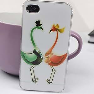 ZXM- El Caso hermoso Bird Lovers Patrón PC para el iPhone 4/4S
