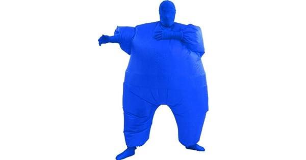 Amazon.com: Traje inflable de gordo, talla única , Azul ...