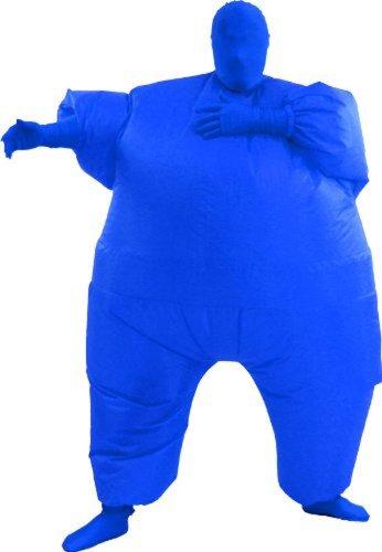 [TV Store Men's Inflatable Adult Costume, Blue, Adult Standard] (Blue Blimp Costume)