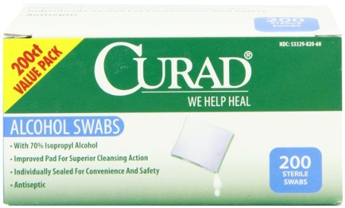 Curad Alcohol Swabs Antiseptic Wipes, 200 Count Personal Healthcare / Health Care