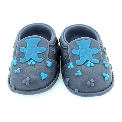 3D Baby shoes soap mold with teddy bear detail Dream Teddy Sheet