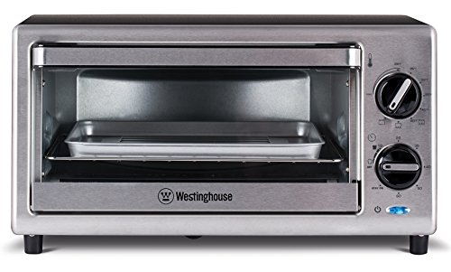 Westinghouse WTO2010S 4 Slice Toaster Oven, 10-Liter, Stainless Steel by Westinghouse
