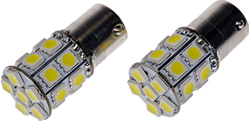 Dorman 1156W-SMD White LED Turn Signal Light Bulb, (Pack of 2) (Signal Gl Turn Light)