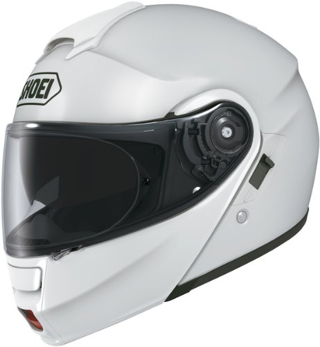 Multitec Modular Shoei Helmet - Shoei Solid Neotec Modular Motorcycle Helmet - White / X-Small