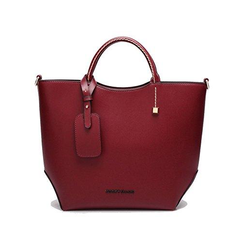 Walcy PU Leather European And American Style Women's Handbag,Bucket-Type Bucket Bag HB880067C1