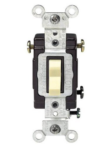 (Leviton 3-Way Lighted Grounding Ac Quiet Toggle Switch (836-05503-LHI))