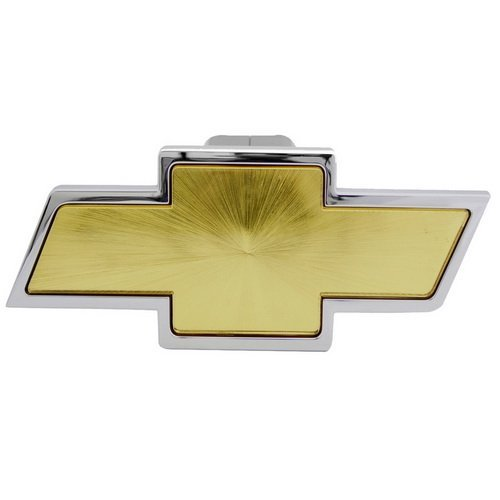 Hitch Cover, licensed Auto Logo Trailer Tow Hitch Covers Made by Stainless Steel (Chevrolet)