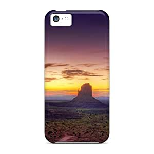 High Impact Dirt/shock Proof Case Cover For Iphone 5c (sunset Landscapes Nature Canyon)