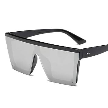 QDE Gafas de sol Gafas De Sol Superiores Planas De Gran Tamaño para Mujer Gafas De Sol para Hombre Gafas De Sol Grandes Pantallas Cuadradas Grandes