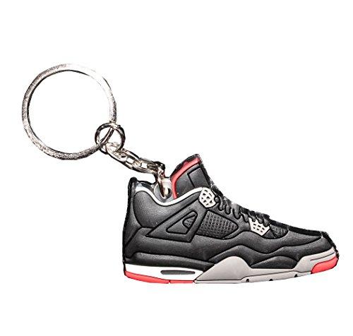 bcfa5a7c65d One Stop Discount Shop® - Air Jordan 4 Basketball Jumpman Key Chain in  Black/