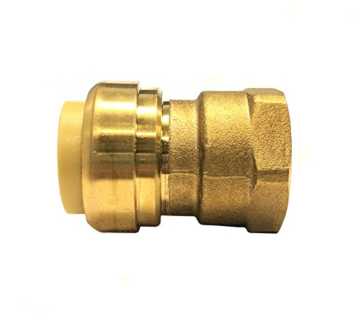 (Libra Supply Lead Free 3/4 inch Push x 1/2 inch FIP Push-Fit Female Adapter, Push to Connect, Push x FIP(Click in for more size options), 3/4'' Push x 1/2'' FIP Brass Pipe Fitting Plumbing Supply)